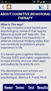 Cognitive Styles CBT Test - screenshot thumbnail