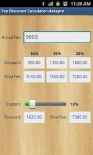 Fee Discount Calculator - screenshot thumbnail