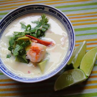 Corn Soup with Lobster and Avocado.