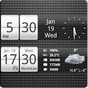 Sense Analog Small Clock 4x1 icon