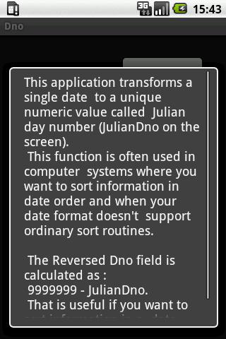 Julian day number- screenshot