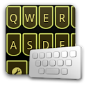LaserYellow keyboard skin logo