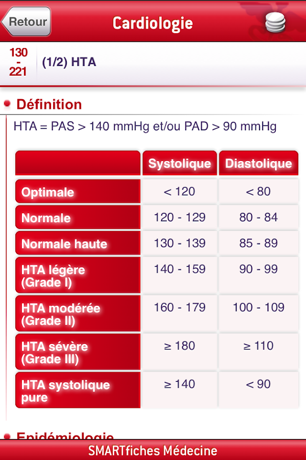 SMARTfiches Cardiologie Free- screenshot