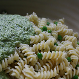 Fusilli with Asparagus-Mint Pesto.