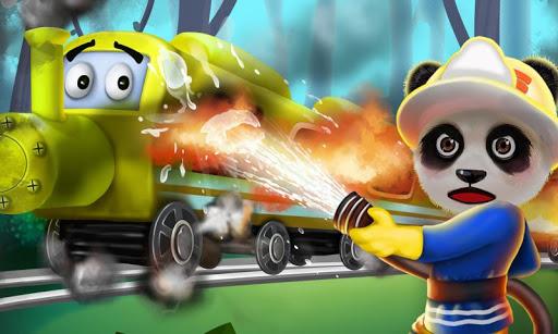 Train Fire: Super Panda Rescue