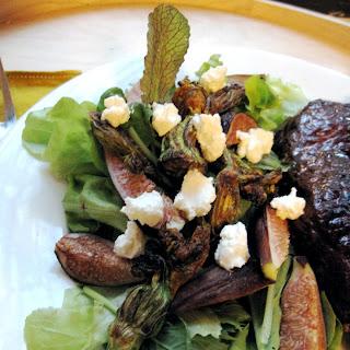 Fig & Squash Blossom Salad.