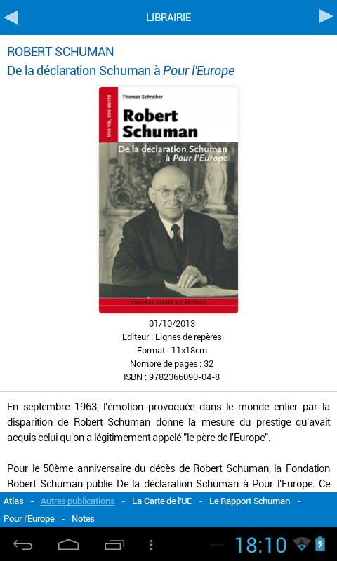 Fondation Robert Schuman- screenshot