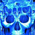 Blue Glowing Skull LWP logo