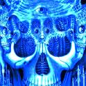 Blue Glowing Skull LWP logo