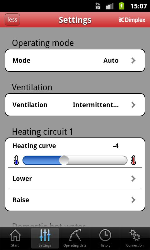 HeatPumpApp- screenshot