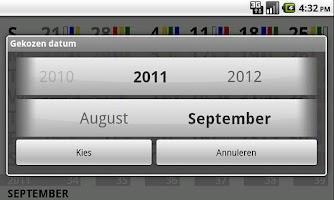 Screenshot of shiftcalendar TATA IJmuiden