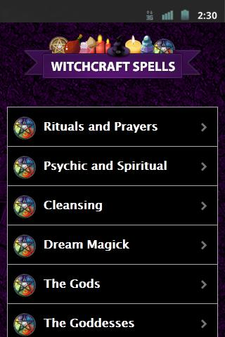 Witchcraft Spells - screenshot