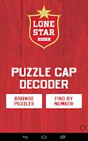 Screenshot of Lone Star Puzzle Caps Decoder
