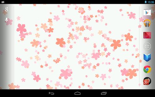 Fond d'écran- Fleurs tombantes - screenshot thumbnail