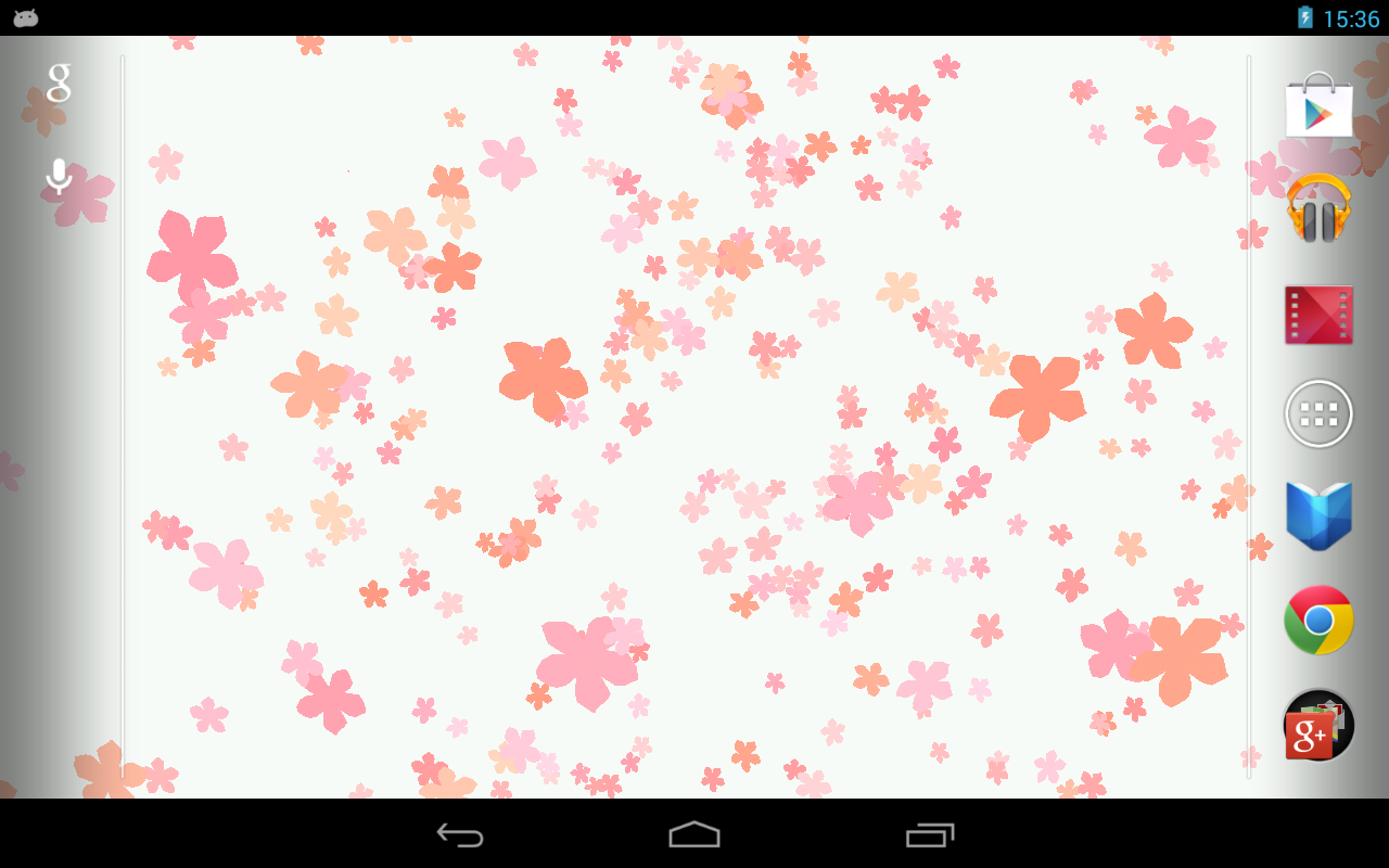 Fond d'écran- Fleurs tombantes– Capture d'écran