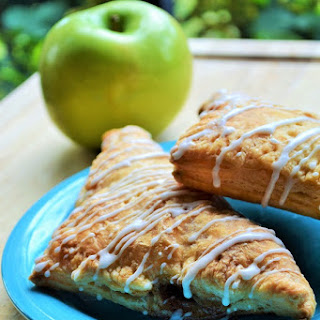Puff Pastry Apple Walnut Turnovers.