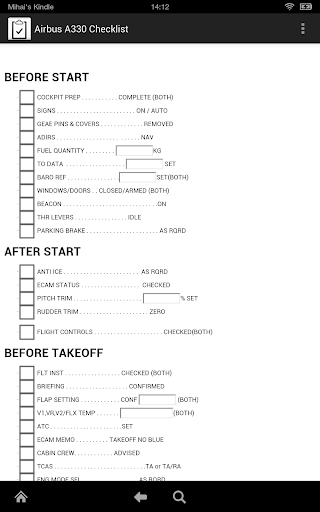 Airbus A330 Checklist NoAds