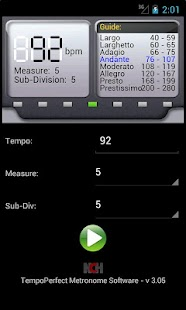 TempoPerfect Free Metronome - screenshot thumbnail