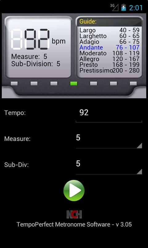 TempoPerfect Metronome Free - screenshot
