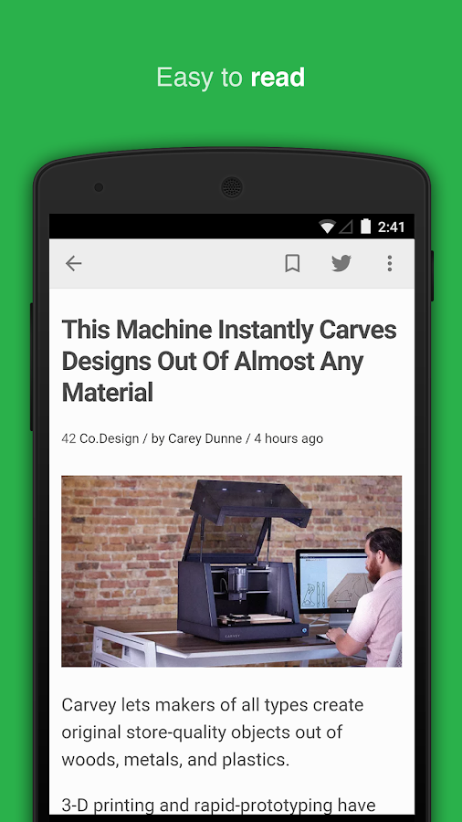 News reader by feedly - screenshot