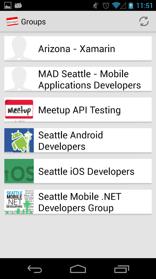 Meetup Manager for Organizers - screenshot