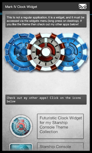 Arc Reactor Clock Widget
