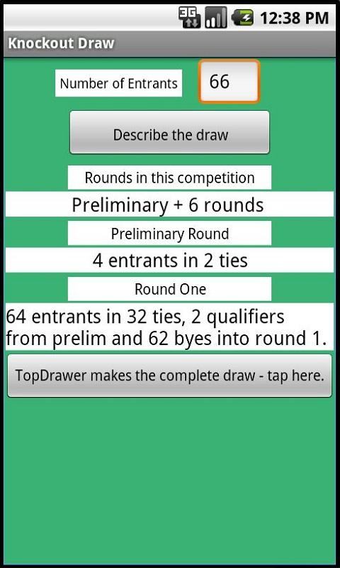 Knockout Draw - screenshot