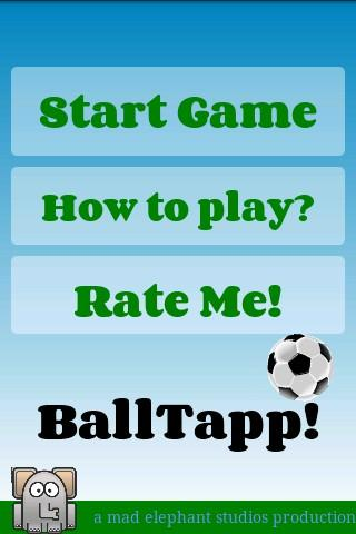 football game soccer juggle - screenshot