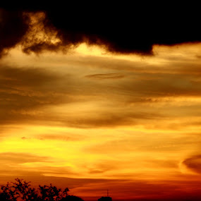 Sky on Fire by Valo Chele Shiplu - Nature Up Close Other Natural Objects ( cloud formations, clouds, abstract, nature, sunset, art, artistic, sunlight )