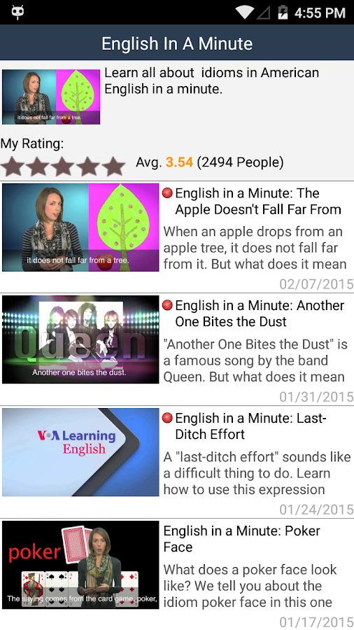 VOA Learn English- screenshot
