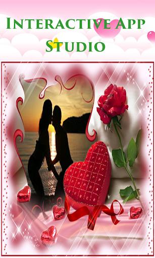 無料ロマンチックフォトフレーム