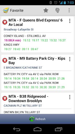 New York MTA Schedule