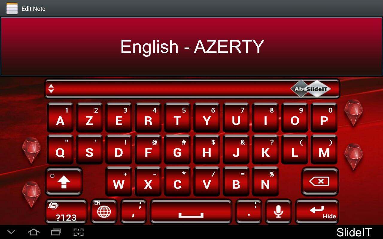 SlideIT English AZERTY Pack- screenshot