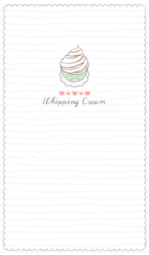 whipping cream 카카오톡 테마