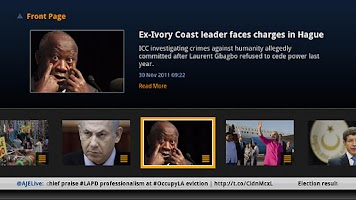 Screenshot of AJE Google TV