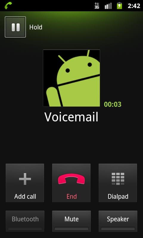 Voicemail - screenshot