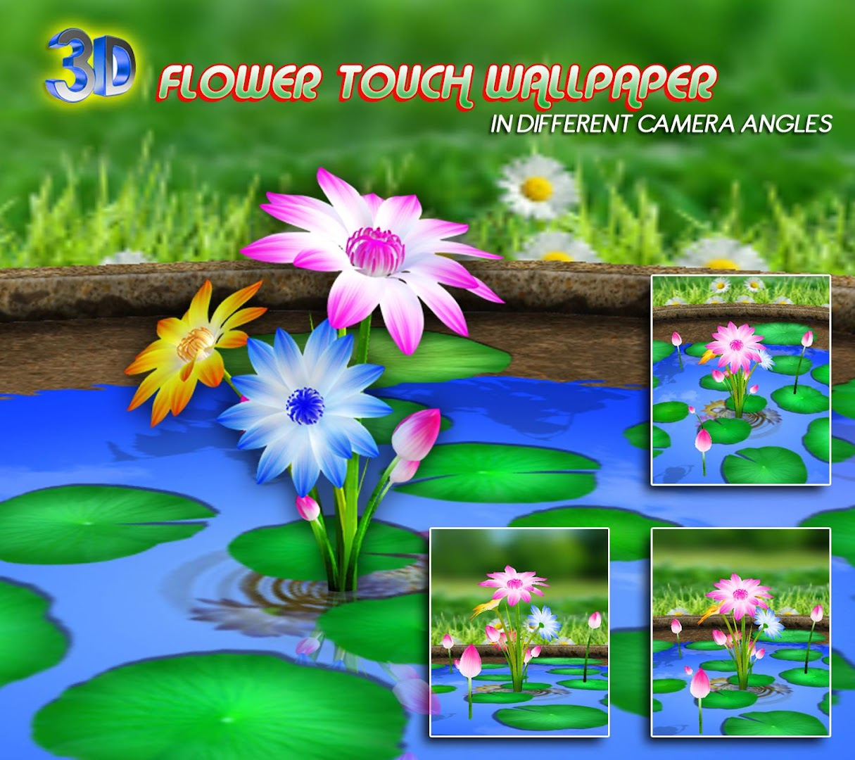 Wallpaper download app - 3d Flowers Touch Wallpaper Google Play Store Revenue Download Estimates Italy