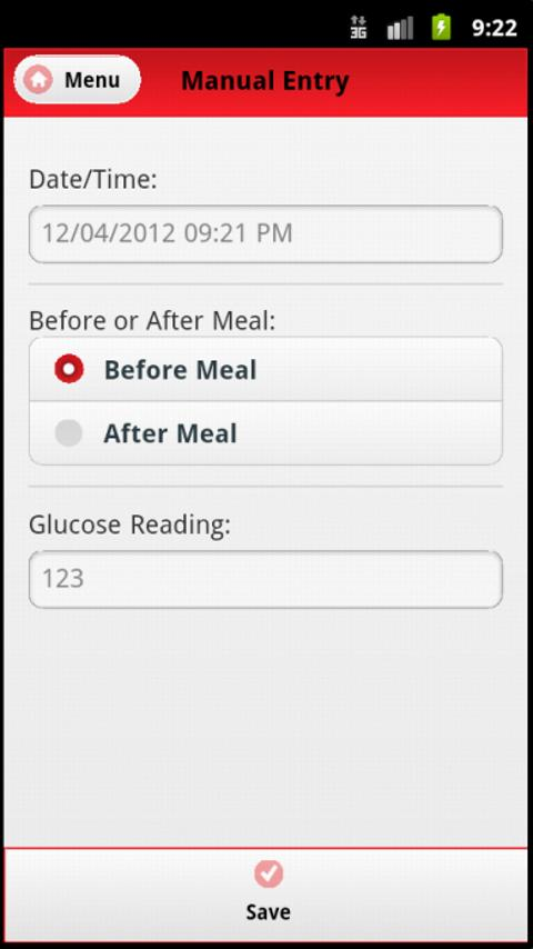 Blood Sugar Tracker- screenshot