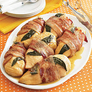 Bacon-and-Sage-Wrapped Chicken Breasts.
