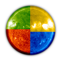 Images of the Sun from SOHO logo
