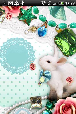 Live Wallpaper Jewelry Rabbit - screenshot