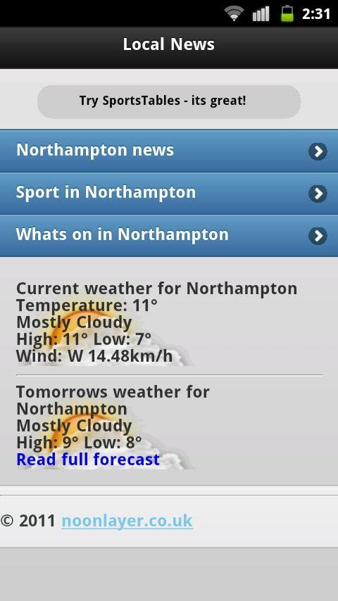 Northampton Local News - screenshot