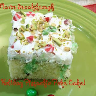 Holiday Pistachio Poke Cake!.
