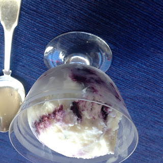 Nutmeg-Scented Blueberry Swirl Ice Cream.