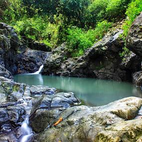Mini waterfall in Suwari by Azay Boyan - Landscapes Waterscapes