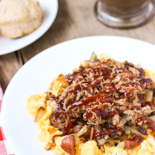 BBQ Pulled Pork Egg Scramble