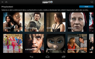 Screenshot of HBO GO Czech
