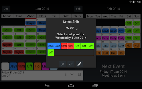 Shift Work Calendar- screenshot thumbnail