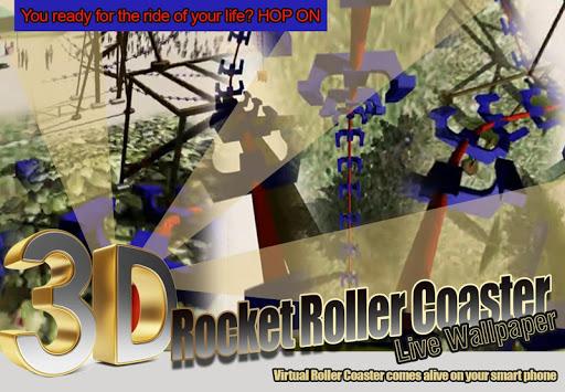 3D Rocket Roller Coaster LWP