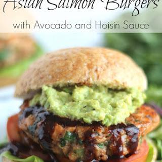 Asian Salmon Burgers with Avocado and Hoisin Sauce (Gluten-Free Option, Too!)